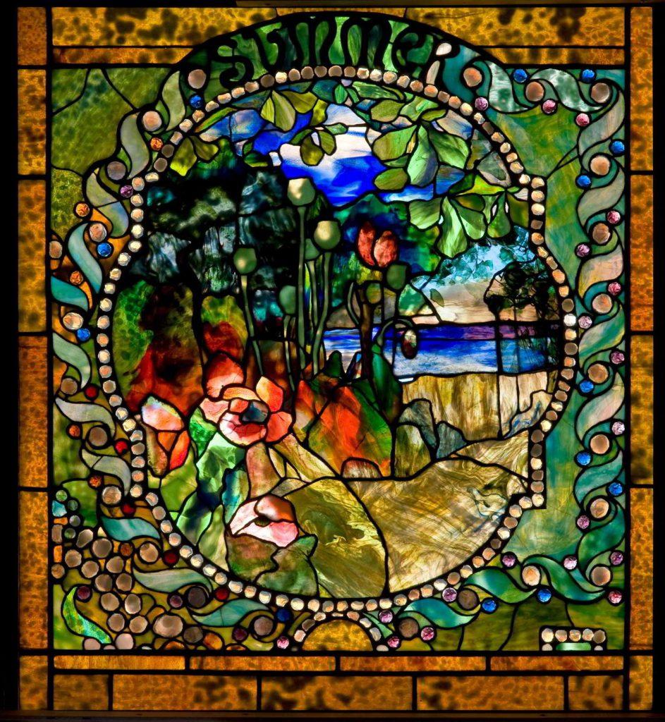 انواع شیشه تیفانی در ابعاد مختلف و طرح، رنگهای زیبا