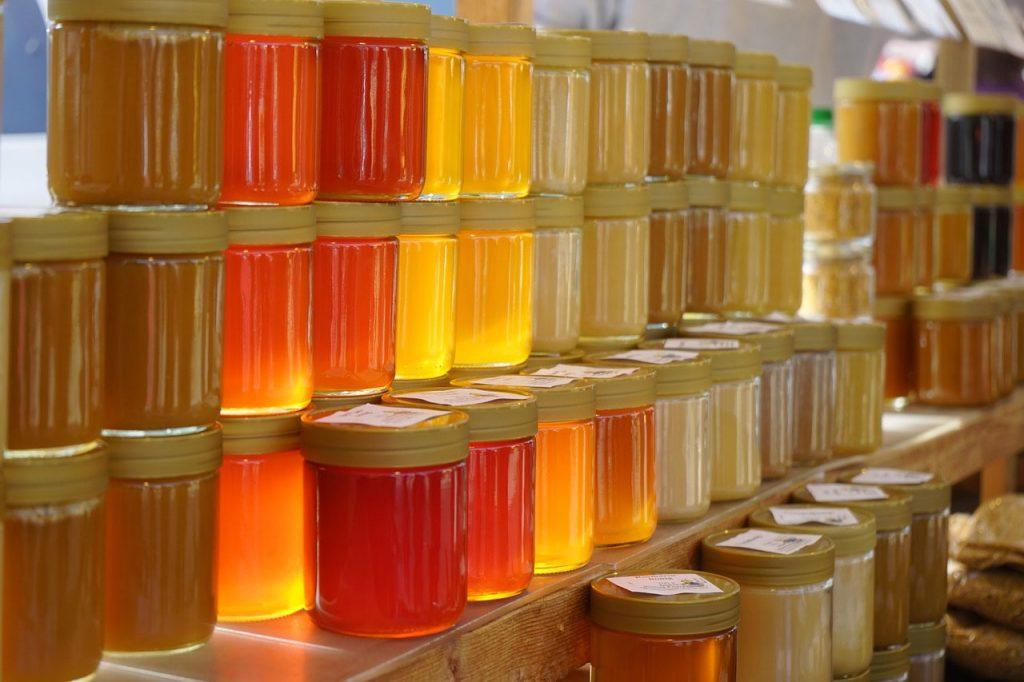 ظروف شیشه ای بسته بندی زیبای عسل با نازل ترین قیمت