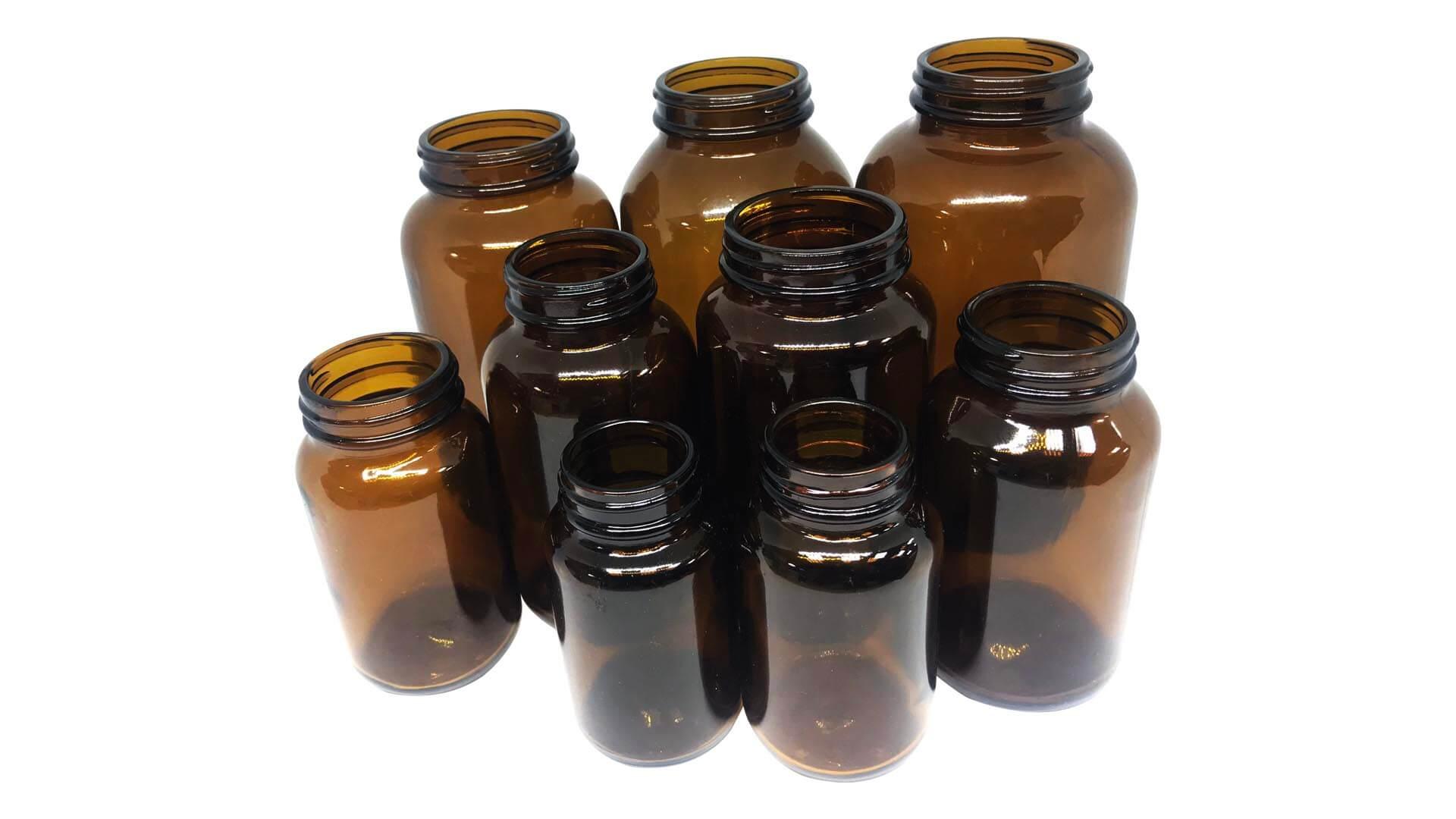 انواع سایز شیشه شربتی قهوه ای
